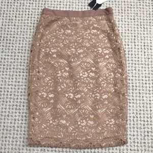 NWT Club Monaco Celeste Lace Skirt Sz 00